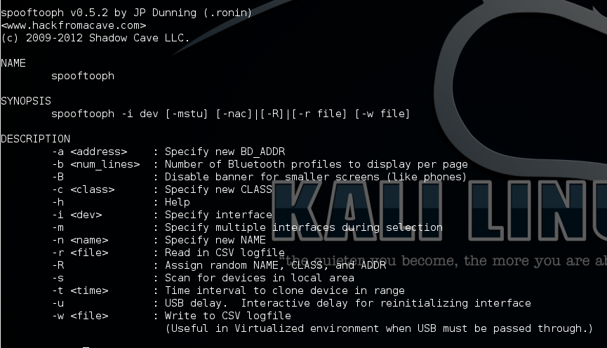 Kali tools catalog - Wireless Attacks - Core dump overflow