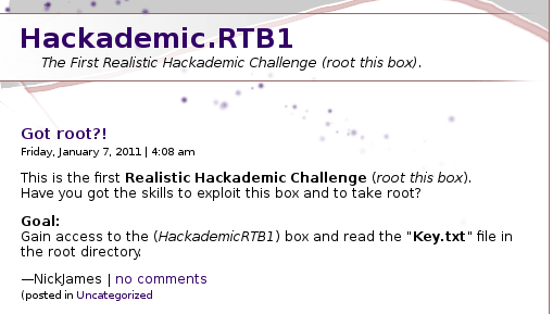 hackademic website