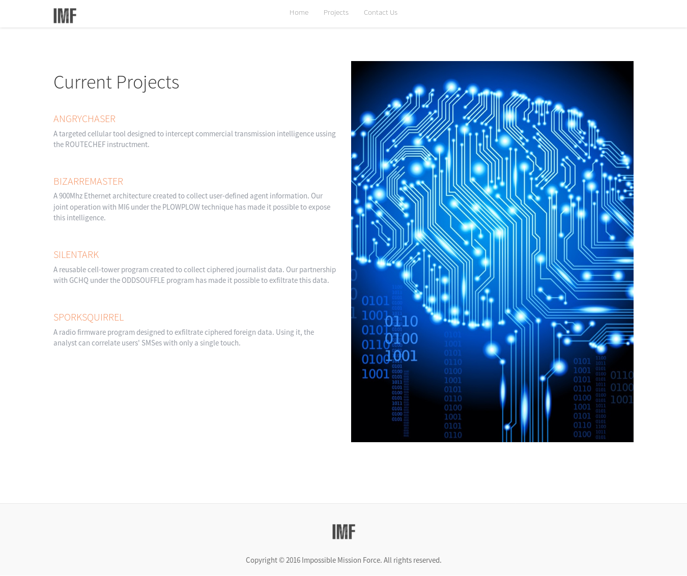 imf projects