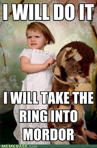 take the ring to mordor