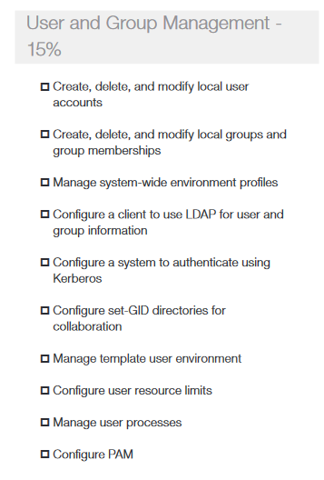 user and group cmds